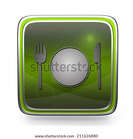Menu square icon on white background