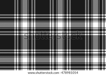 Menzies tartan black kilt fabric texture seamless pattern