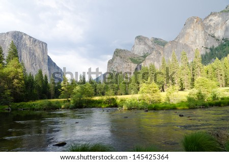 Merced River in Yosemite National Park, California