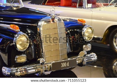 Mercedes Benz 300 D, year 1958, at Vintage car Padova, Italy - oct 25 2015