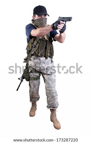 mercenary - soldier of fortune - stock photo