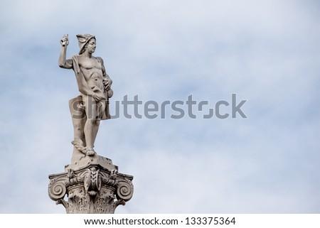 Mercury statue - stock photo