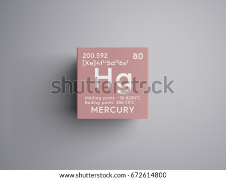 Mercury symbol stock images royalty free images vectors mercury transition metals chemical element of mendeleevs periodic table mercury in square cube urtaz Choice Image