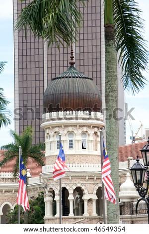 Merdeka square in Kuala Lumpur, Malaysia - stock photo