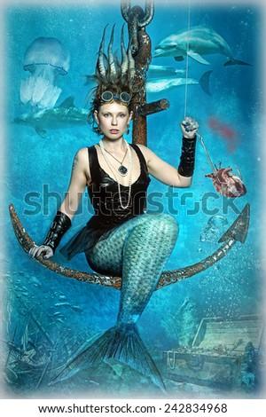 mermaid - stock photo