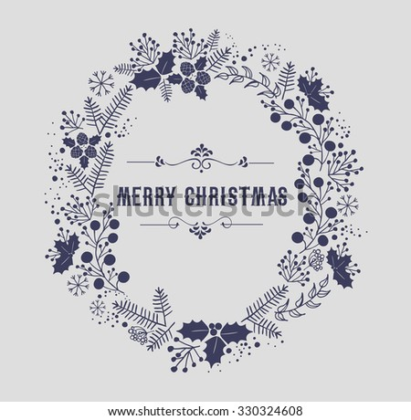 Merry Christmas and Happy New Year Card  - stock photo