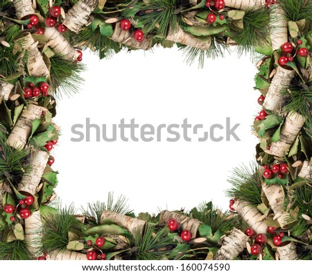 Merry Christmas and Happy New Year. Christmas frame. - stock photo