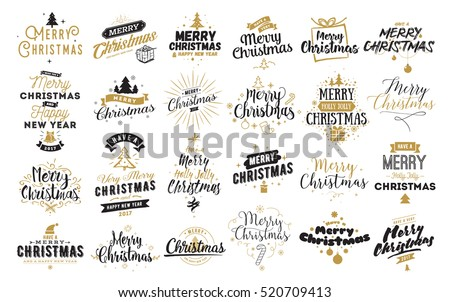 merry christmas happy new year 2017 stock illustration 520709413