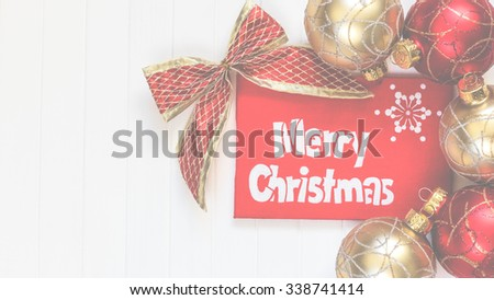 Merry Christmas. ?ard with greetings. Merry Christmas inscription
