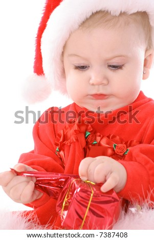 merry christmas baby - stock photo