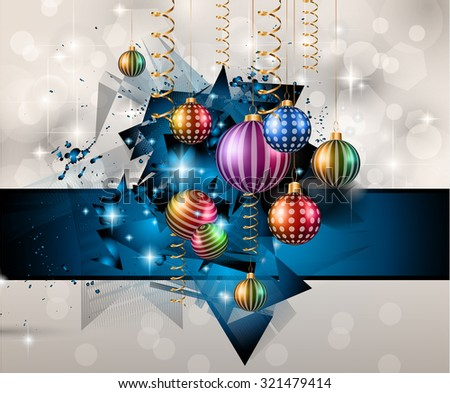 Merry Christmas Background for your Festive seasonal Flyers, dinner invitations, festive posters, restaurant menu cover, book cover,promotional depliant, Elegant greetings cards and so on. - stock photo