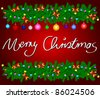 Merry Christmas Card - stock photo