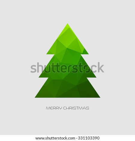 merry christmas card tree decoration - Christmas Card Tree
