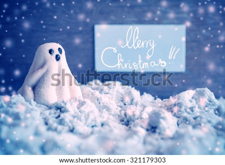 Merry Christmas. Christmas decoration over grunge background/vintage paper handmade christmas decoration and snow on wooden background with copy space.