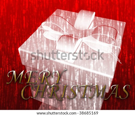 Merry Christmas festive special occasion celebration abstract illustration - stock photo