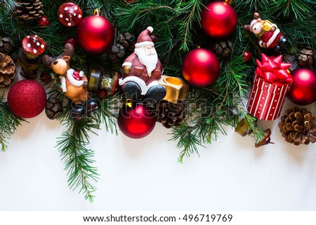 Merry Christmas Frame Real Wood Green Stock Photo (Safe to Use ...