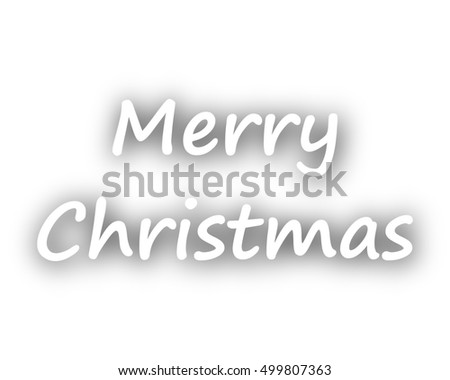 Merry Christmas greetings on white