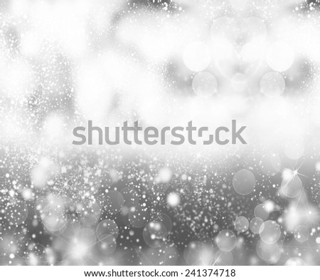 Merry Christmas grey background - stock photo
