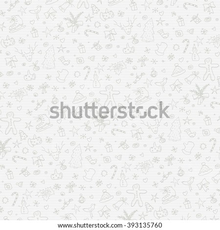 Merry Christmas Hand Drawn Background on Paper Texture. Raster version. - stock photo