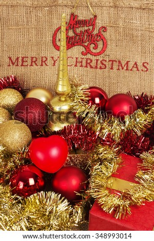 Merry Christmas, happy New Year holidays, decoration
