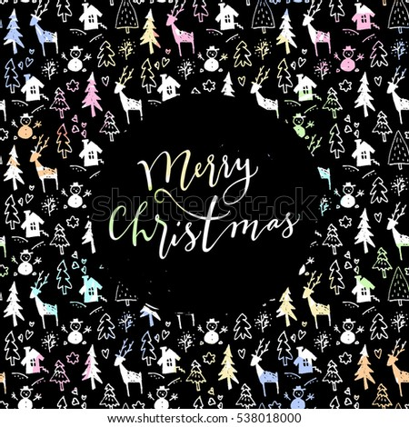 Christmas Modern christmas modern calligraphy stock images, royalty-free images