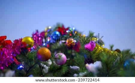 merry christmas new year - stock photo