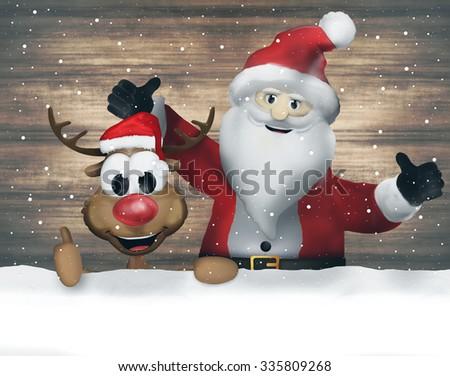 Merry Christmas Santa Claus - stock photo