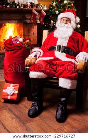 Santa Sitting Stock Images Royalty Free Images Amp Vectors