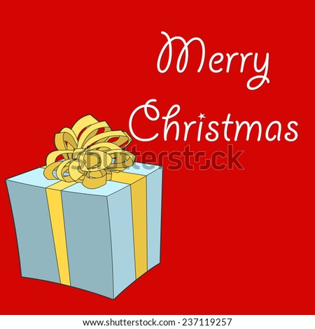 Merry Christmas white text on red background
