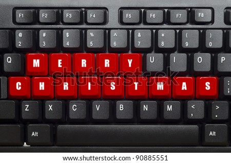 Merry Christmas Word On Red Black Stock Photo Download Now
