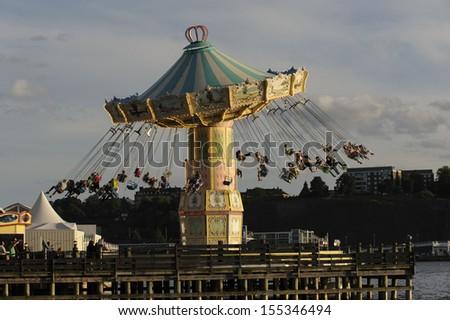 Merry go round - stock photo