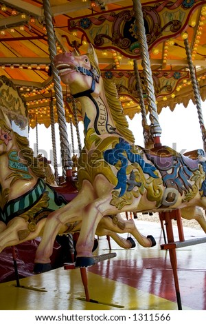 Merry-go-round at Brighton beach