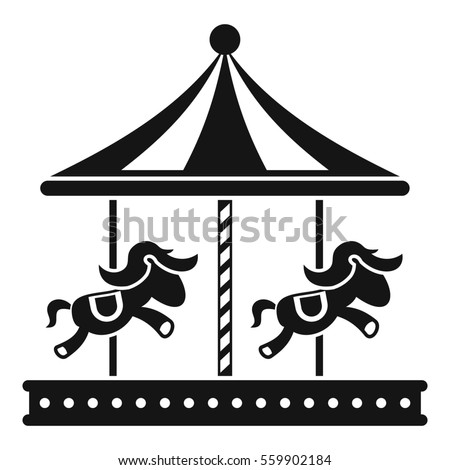 Vintage merrygoround carousel vector stock vektor for Merry go round horse template