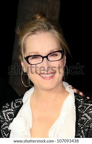 Meryl Streep  at the Los Angeles Premiere of 'Doubt'. AMPAS, Beverly Hills, CA. 11-18-08 - stock photo