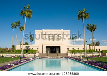 Mesa Arizona Temple of the Church of Jesus Christ of Latter-day Saints - stock photo
