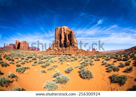 Mesa in the Monument Valley - stock photo