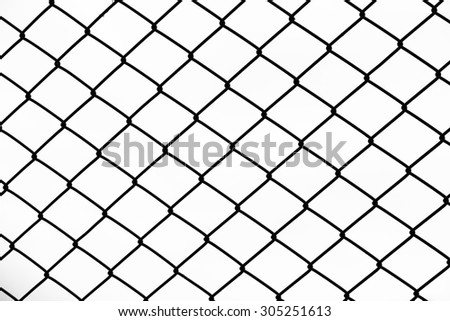 mesh fence with white background