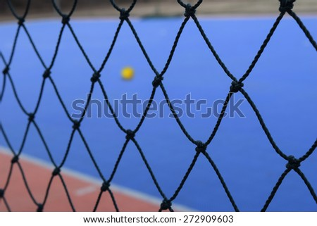 Mesh Futsal with Futsal field on background