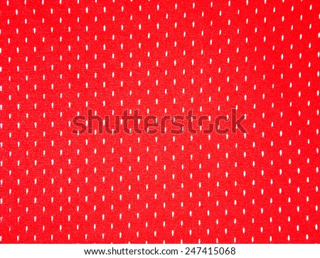 Mesh old basketball jerseys red color - stock photo