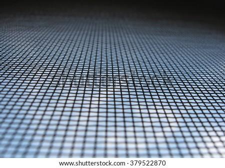 mesh on the window - stock photo