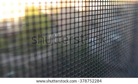 mesh window - stock photo