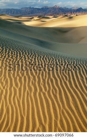 Mesquite Flat Sand Dunes, Death Valley National Park, California, USA - stock photo