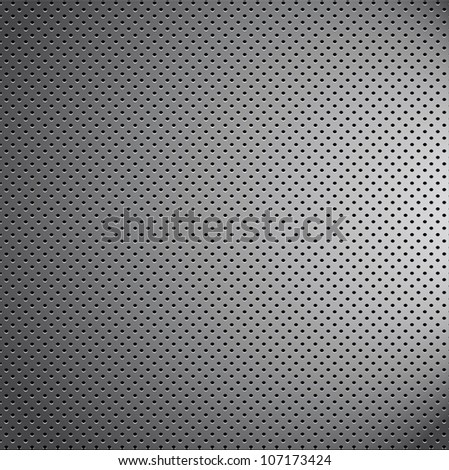 mess chrome metal pattern texture grid carbon material - stock photo