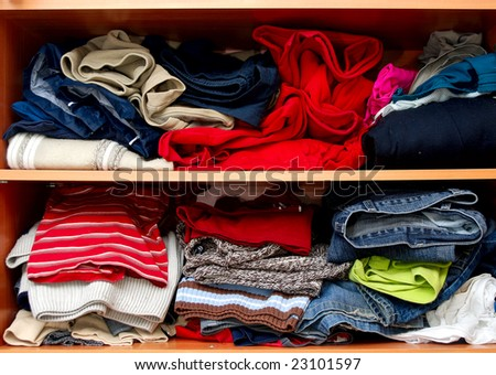 Mess in a wardrobe