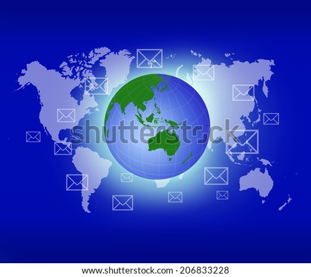 Message communication idea over attractive background. - stock photo