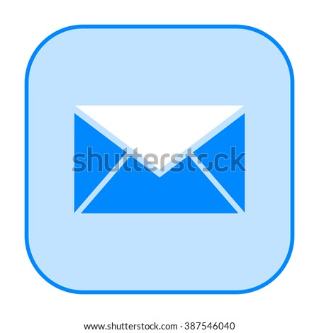 Message icon - stock photo