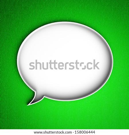 Message icon. Speech bubble. - stock photo