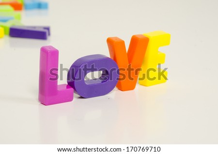 message of love with letters