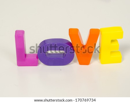 message of love with letters  - stock photo