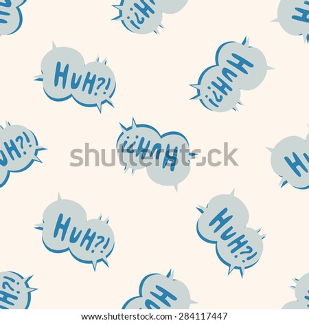 message word huh , cartoon seamless pattern background